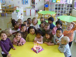 Group of children in a primary school in Paris