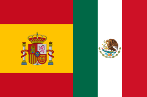 English: Spanish language flags