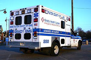 Grady EMS Ambulance 222 (7222 alternate ID) in...