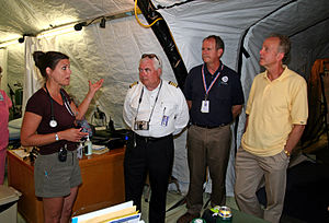 FEMA - 30666 - Nurse and disaster officials in...